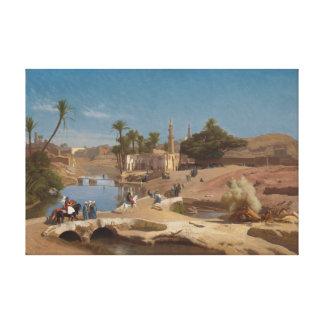 Vista de EL-Fayoum de Medinet Lienzo Envuelto Para Galerias