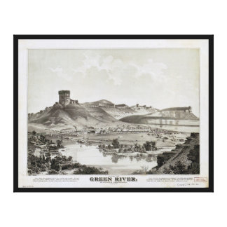 Vista de Green River, territorio de Wyoming (1875) Impresión En Lienzo