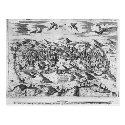 ¿Vista de Jerusalén, 1570? Tarjetas Postales