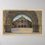 Vista de la iglesia conmemorativa, Stanford U. Poster