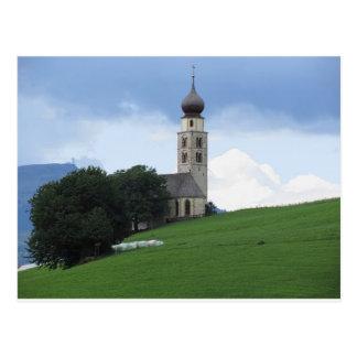 Vista de la iglesia de San Valentino Tarjeta Postal