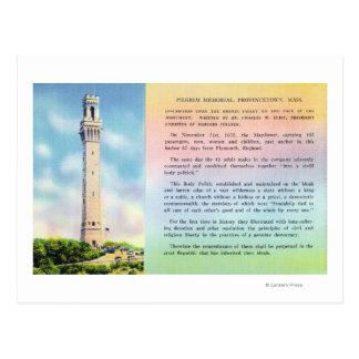 Vista de la información conmemorativa y breve del postal