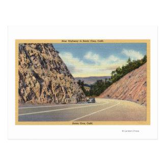 Vista de la nueva carretera a Santa Cruz Postal