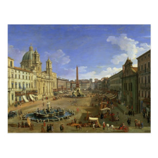 Vista de la plaza Navona, Roma Postal