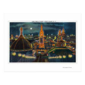 Vista de Luna Park en la noche Tarjetas Postales