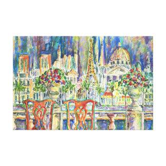 Vista de París Impresiones En Lona Estiradas
