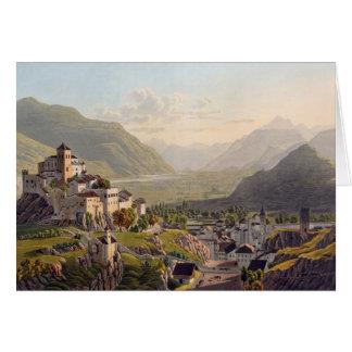 Vista de Sion, ejemplo del 'viaje Pittoresqu Tarjeta De Felicitación