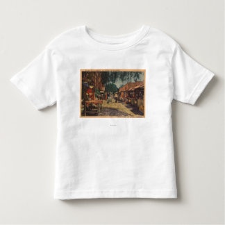 Vista de St. de Olvera (El Paso de Los Ángeles) Camiseta De Bebé