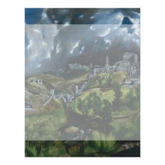 Vista de Toledo de El Greco Flyer Personalizado