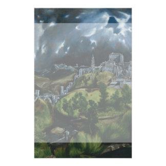 Vista de Toledo de El Greco Tarjeton