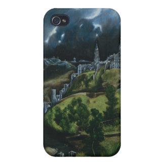 Vista de Toledo, El Greco iPhone 4 Protectores