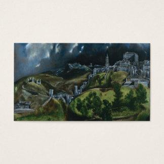 Vista de Toledo, El Greco Tarjeta De Negocios