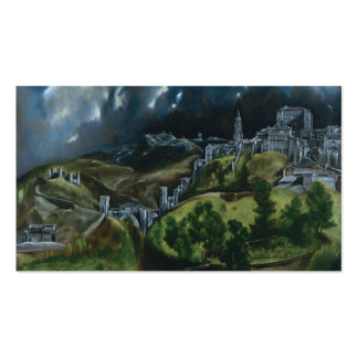 Vista de Toledo, El Greco Tarjetas De Visita