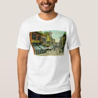 Vista de una calle de Chinatown Camiseta