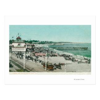Vista del casino, de la playa, y del embarcadero postal