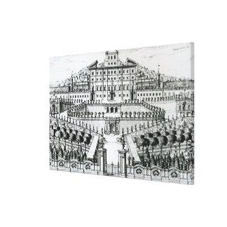 Vista del chalet Aldobrandini del jardín (en Impresión En Lienzo