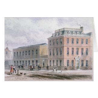 Vista del cuadrado de Soho y de la casa de Carlisl Felicitación