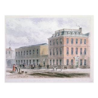 Vista del cuadrado de Soho y de la casa de Postal