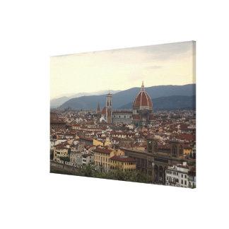 Vista del Duomo Santa María Del Fiore adentro Lienzo Envuelto Para Galerías