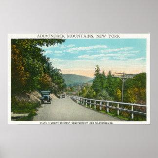 Vista del estado Hwy hacia Warrensburg Posters