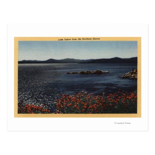 Vista del lago de las orillas septentrionales postal