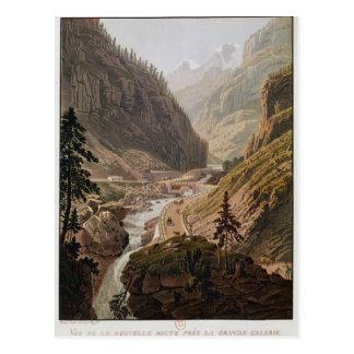Vista del nuevo paso de Simplon, 1811 Postal