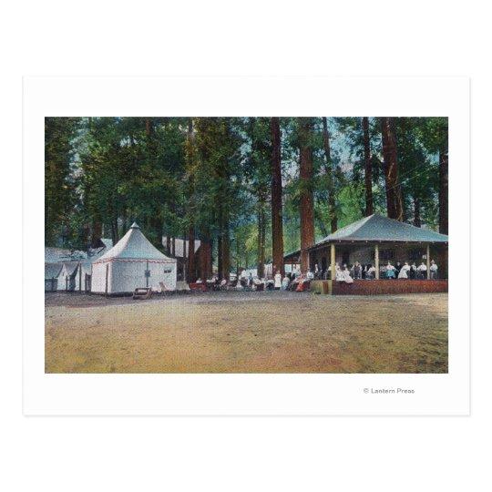 Vista del parque nacional de CurryYosemite del Postal