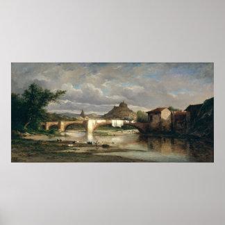 Vista del Puy-en-Velay de Espaly, 1872 Póster