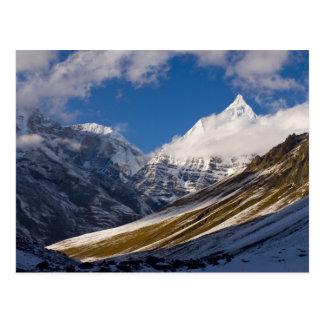 Vista del soporte Jichu Drake, Bhután Postal