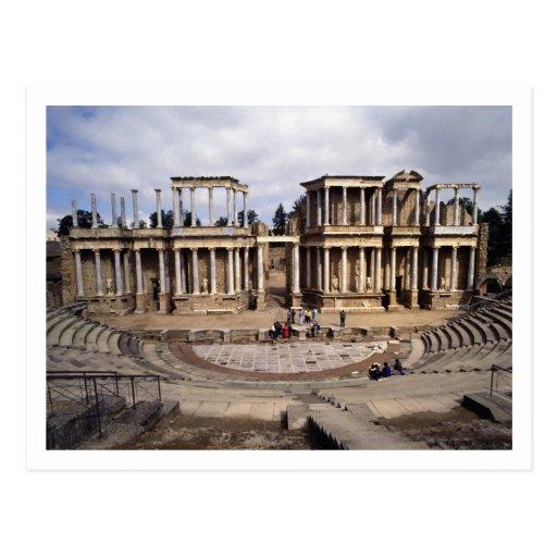 Vista del teatro, comenzada 24 A.C. (foto) 3 Tarjeta Postal
