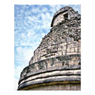 Vista detallada del EL Caracol, Chichen Itza Folleto 21,6 X 28 Cm