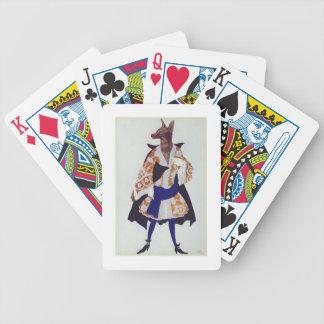Vista el diseño para el lobo, de la bella durmient baraja de cartas