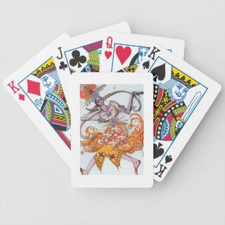 Vista el diseño para un pas de deux bailado en el  baraja cartas de poker