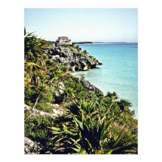Vista escénica del Golfo de México y del EL Castil Folleto 21,6 X 28 Cm