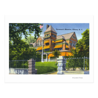 Vista exterior de la mansión del gobernador postal