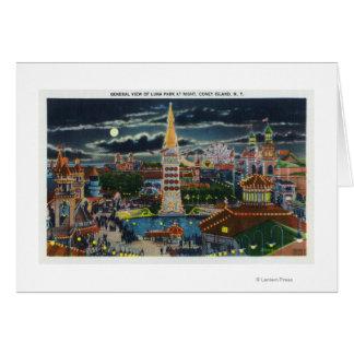 Vista general de Luna Park en la noche Felicitaciones