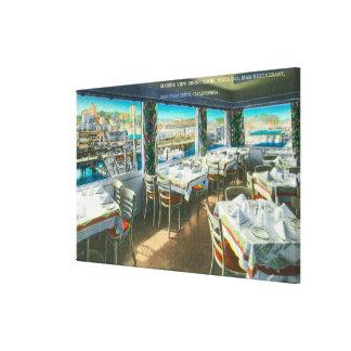 Vista interior del restaurante de Vista Del Mar Lienzo Envuelto Para Galerias