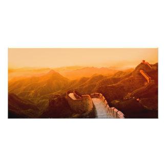 Vista panorámica de la Gran Muralla China Arte Con Fotos