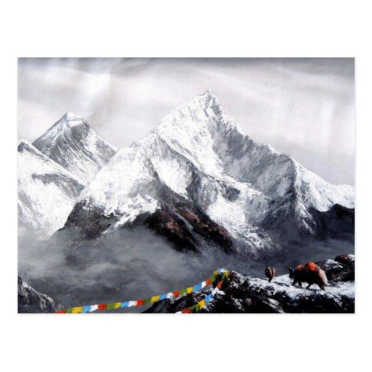 Vista panorámica de la montaña de Everest Postal