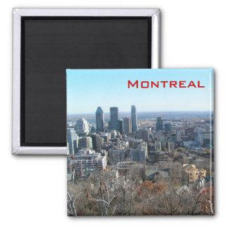 Vista panorámica de Montreal Imán Cuadrado