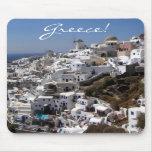 Vista panorámica de Oia, Grecia Tapete De Ratón