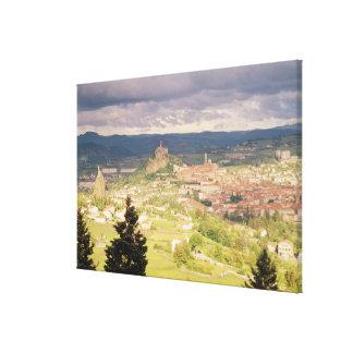 Vista panorámica del Le-Puy-en-Velay Impresión En Lienzo