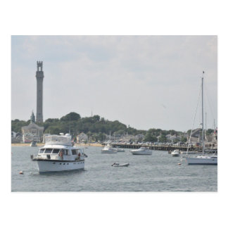 Vista panorámica del puerto de Provincetown Postal