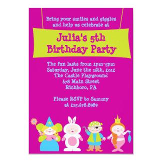 Vista para arriba la invitación del cumpleaños del invitación 12,7 x 17,8 cm