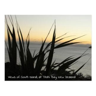 Vistas de la postal de la isla del sur