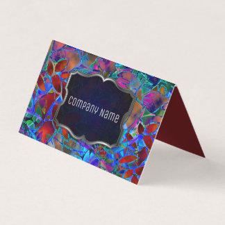 Vitral abstracto floral doblado de la tarjeta de