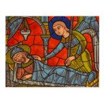 Vitral de la catedral de Chartres Tarjeta Postal