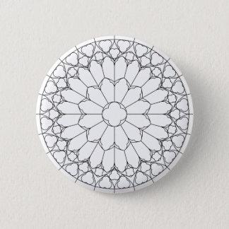 Vitral de los rosas chapa redonda de 5 cm