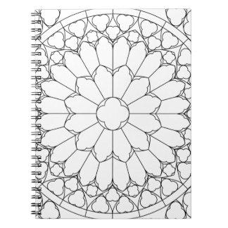 Vitral de los rosas cuaderno
