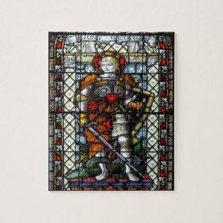 Vitral de San Jorge Rompecabeza Con Fotos